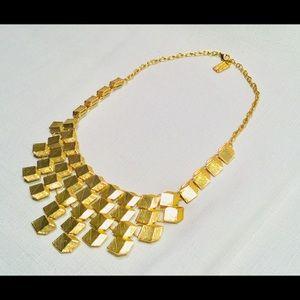 Karine Sultan Gold Geometrical Statement Necklace
